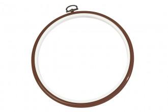 DMC Flexi Embroidery Hoop, 17.8cm / 7in - Woodgrain