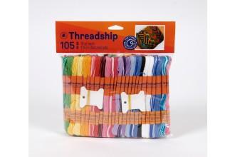 DMC Threadship - Craft Thread Pack (105 Skeins)