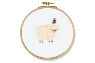 DMC - Pets Party - For You! Sheep (Printed Embroidery Kit)