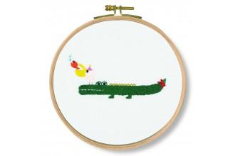 DMC - Pets Party - Invitation! Crocodile (Printed Embroidery Kit)