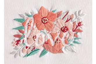 DMC - Love Flowers (Embroidery Kit)