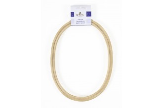 DMC Wooden Embroidery Hoop, Oval, 18 x 24cm / 10in