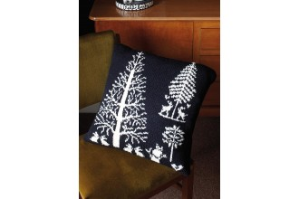 Rowan - Rowan At Home - Enchanted Forest Cushion by Martin Storey in Pure Wool Superwash Worsted (downloadable PDF)
