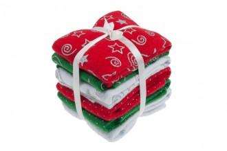 Felt Sheet - 2mm - 23x30cm - Christmas Glitter Designs (pack of 6)