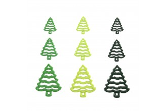 Christmas Tree Buttons - Mixed Sizes, 30g