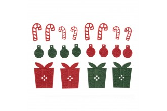 Christmas Presents and Candy Cane Buttons, Mixed Sizes, 30g