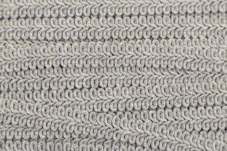 Gimped Braid - 15mm wide - Silver (per metre)