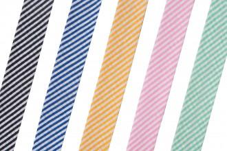Bias Binding - Cotton - 20mm wide - Stripes (per metre)