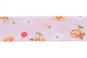 Bias Binding - Cotton - 20mm wide - Ditsy Floral Yellow White Pink (per metre)