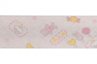 Bias Binding - Cotton - 30mm wide - Nursery Pink (per metre)