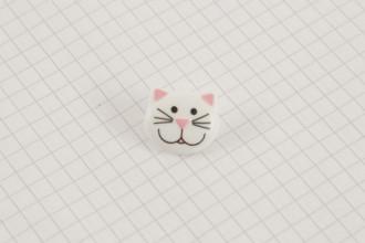 Cat Button, Plastic,  20mm