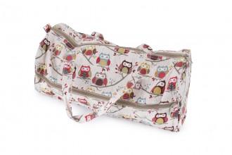 Soft Fabric Knitting Bag - 'Hoot' Owls Print