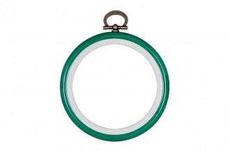 Stitch Garden Flexi Embroidery Hoop, 7.6cm / 3in - Green