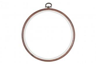 Stitch Garden Flexi Embroidery Hoop, 15.2cm / 6in - Woodgrain