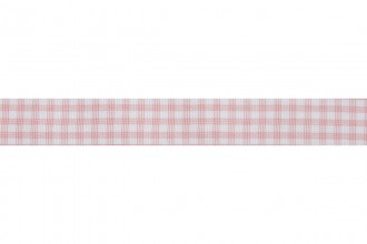 Bowtique Gingham Ribbon - 15mm wide - Pink (5m reel)
