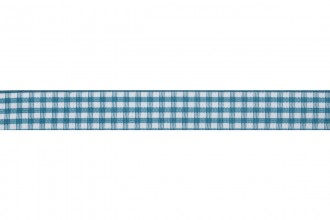 Bowtique Gingham Ribbon - 15mm wide - Teal (5m reel)