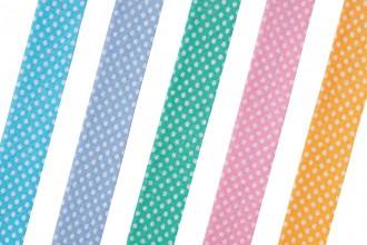 Bias Binding - Cotton - 20mm wide - Spots (per metre)