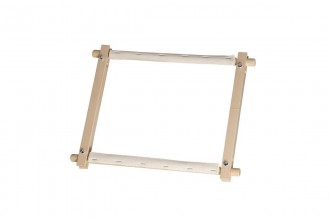 Elbesee Wooden Rotating Tapestry Frame, 15.2 x 22.9cm / 6 x 9in