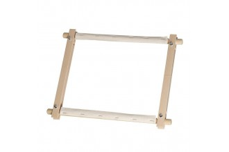 Elbesee Wooden Rotating Tapestry Frame, 22.9 x 22.9cm / 9 x 9in