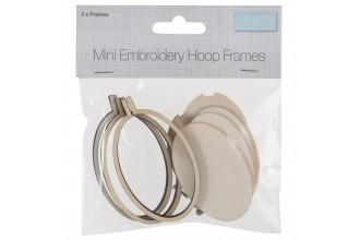 Trimits - Mini Embroidery Hoop, Wood, Oval (Portrait) - 40 x 60mm