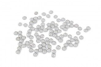 Trimits Acrylic Stones, Glue-On Round, Medium, 5mm, Clear (pack of 100)