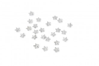 Trimits Acrylic Stones, Glue-On Star, 6mm, Clear (pack of 23)
