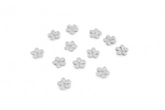 Trimits Acrylic Stones, Glue-On Flower, Clear (pack of 12)