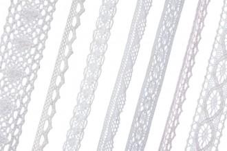 Bowtique Cotton Lace Ribbons (5m reel)