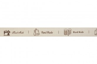 Bowtique Natural Cotton Ribbon - 15mm wide - Hand Made Sewing - Natural (5m reel)