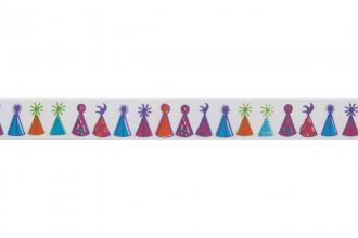 Bowtique Satin Ribbon - 15mm wide - Party Hats - Mixed (5m reel)