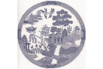 Heritage Crafts - Classics - The Willow Pattern (Cross Stitch Kit)
