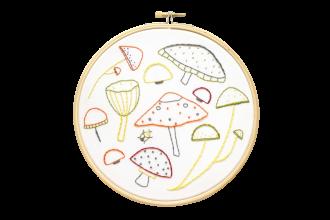 Hawthorn Handmade - Contemporary Embroidery Kit - Marvellous Mushrooms