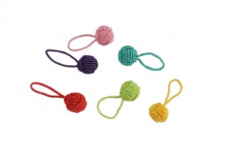 HiyaHiya Yarn Ball Stitch Markers - Up to 10mm - Multi - Pack of 6
