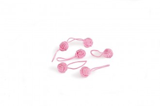 HiyaHiya Yarn Ball Stitch Markers - Up to 10mm - Pink - Pack of 6