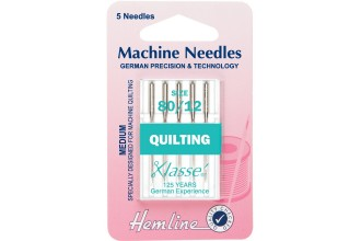 Medium 80//12 Hemline Quilting Machine Needles