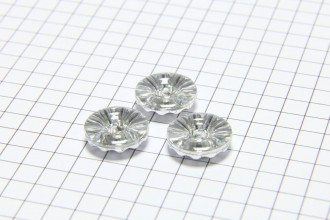 Round Diamante Crystal Buttons, Clear, 12.5mm (pack of 3)
