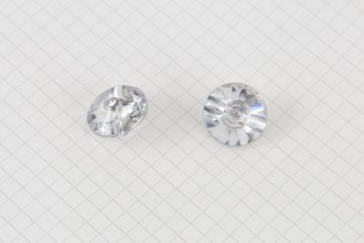 Round Diamante Crystal Buttons, Clear, 17.5mm (pack of 2)