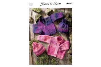 James C Brett 013 Cardigans and Hat in Marble Chunky (leaflet)