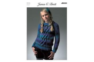 James C Brett 050 Sweater in Marble Chunky (leaflet)