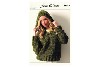 James C Brett 115 Sweater in Rustic Mega Chunky (leaflet)