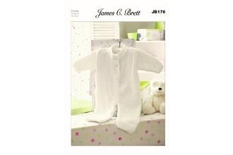 James C Brett 176 Babys All in One Suit in Flutterby Chunky (leaflet)