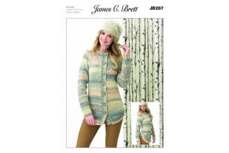 James C Brett 287 Womens Jacket in Marble Chunky (leaflet)