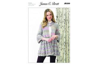 James C Brett 289 Womens Jacket in Marble Chunky (leaflet)