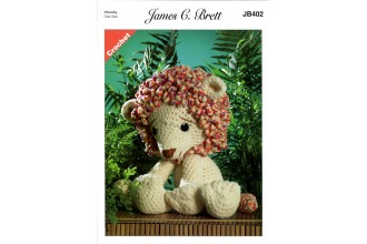 James C Brett 402 Rory the Lion Toy in Flutterby Chunky (leaflet)