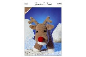James C Brett 405 Rudolf the Reindeer Toy in Flutterby Chunky (leaflet)