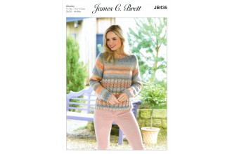 James C Brett 435 Sweater in Marble Chunky (leaflet)