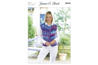 James C Brett 436 Waistcoat in Marble Chunky (leaflet)