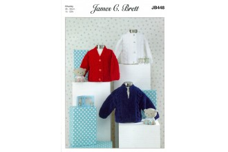 James C Brett 448 Cardigans and Sweater in Flutterby Chunky (leaflet)