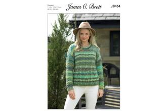 James C Brett 454 Sweater in Marble Chunky (leaflet)