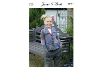 James C Brett 455 Cardigan in Marble Chunky (leaflet)